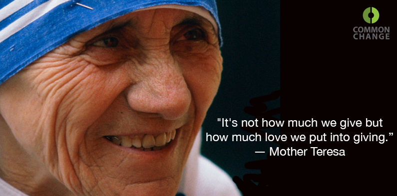 how much love mother teresa